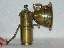 ANTIQUE BRASS CARBIDE CYCLE LAMP GOOD CONDITION (LENS ABSENT)