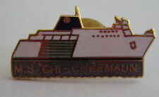 Vintage MS Chi Cheemaun Ferry Boat Ontario Canada Pin Button Badge