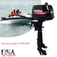 6HP Portable Outboard Motor Boat Engine 2-Stroke With Water Cooling System