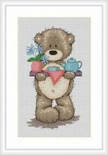 Bruno The Bear - Morning Tea For Bianca Cross Stitch Kit