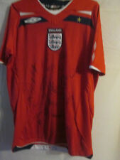 England 2008 Signed Soccer Jersey Football Shirt with The FA COA new /3329