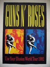 GUNS N' ROSES USE YOUR ILLUSION WORLD TOUR 1992 AUTHENTIC  POSTER