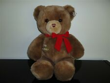 Gund Bear TENDER TEDDY 1983 KARITAS 16 inch Velvet Ribbon Excellent Condition