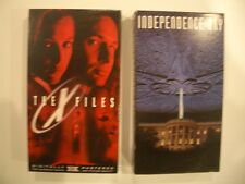 INDEPENDENCE DAY   and 2nd vhs movie   THE X FILES       2 movies in this offer
