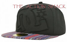 E5 - DC Shoes Coverage II Fitted Hat / Cap * NWT 7 3/8 Black / Multi - #24762