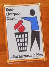Keep Liverpool clean Everton football fridge magnet