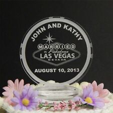 Personalized Custom Wedding Cake Top Topper Acrylic Las Vegas Poker Chip