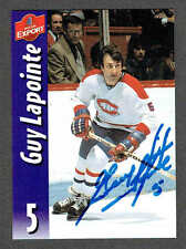 2000(to date) Molson Export Montreal Canadiens Autographed Guy Lapointe