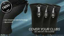 New Hybrid Head Covers Complete 4 5 6 Set New Thick Golf Club Black Headcover