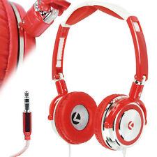3.5mm Rot Faltbar Über dem Ohr Stereo Kopfhörer Headset - Bass - Dreh - MP3 iPod