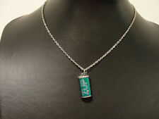 """small 7up can soft drink soda pendant 16"""" chain toy vending machine prize 1970s"""