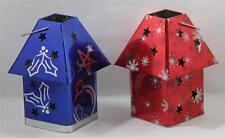 Tin Box Co Christmas Design Lantrens Candle Holders BRAND NEW Set of 2