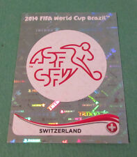 N°336 BADGE SUISSE SWITZERLAND PANINI FOOTBALL FIFA WORLD CUP BRAZIL 2014 BRASIL