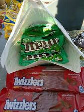 23 M&M'S Mint Dark Chocolate Candy Bag 1.5 oz + 10 Twizzlers