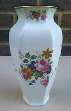 ROYAL WORCESTER PALISSY Vase decorated with Flowers - 9 Inches
