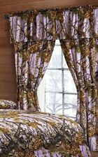 5 PC SET THE WOODS CURTAINS VALANCE DRAPES LAVENDER PURPLE WOODS CAMOUFLAGE