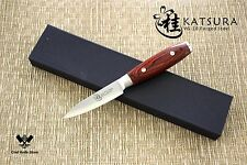 KATSURA Japanese VG-10 3-Layer Forged Steel Paring Knife, 3.5-Inch vs Ran Shun