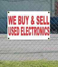 2x3 WE BUY & SELL USED ELECTRONICS Red & White Banner Sign Discount Size & Price