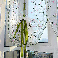 Adjustable Balloon Lace Curtain Valance Shade Scalloped Window Privacy Panel