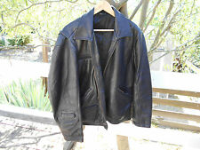 SUPERBE BLOUSON CUIR GENUINE LEATHER NOIR  T M  A 69€ ACH IMM FP COMP MONDIAL RE