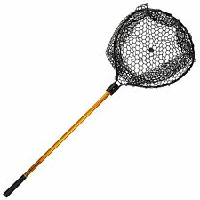56 Inch Retractable Rubber Landing Net Safe for Fish 35 Inch Handle No Snag