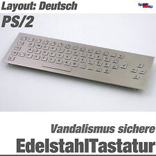 TOP EDELSTAHL VANDALISMUSSICHERE TASTATUR WASSERFEST IP65 PS/2 DIN ALL WINDOWS
