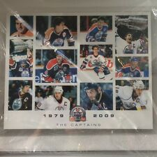 Edmonton Oilers Captains Plaque featuring Wayne Gretzky, Messier, Lowe 1979-2009