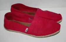 Womens TOMS Fuchsia Freetown Classic Pink Flats Shoes Size 12