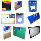 NOTICE BOARDS CORK MONTHLY Black WEEKLY DRYWIPE FABRIC PIN BOARDS ETC