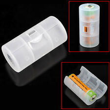 4pcs Translucent AA to C Size Battery Adaptor Holder Case Converter Shell Cover
