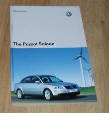 VOLKSWAGEN VW Passat Berlina brochure 2003 S SE Sport 1.8t v5 v6 4.0 w8 1.9 TDI