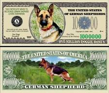German Shepherd Million Doggie Bones Collectible Fake Funny Money Novelty Note