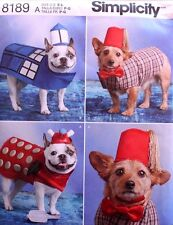 DOG CLOTHES/COSTUME Hat* Bow Tie* Dr Who Simplicity Pattern 8189 NEW Sizes S-L