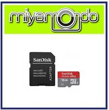 Sandisk Ultra 16GB Micro SDHC Memory Card with Adapter
