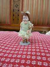 Antique all bisque doll little girl all original