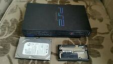 SONY PLAYSTATION 2 PS2 WITH NETWORK ADAPTER 250GB IDE HARD DRIVE HDD 160 GB