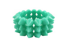 PEPPERMINT GREEN CYBER SPIKE BRACELET STUDDED ROCK GOTH PUNK EMO CANDY RAVE
