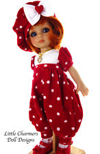 """Tonner Patsy, Corduroy Romper for Patsy, 10"""" doll. Little Charmers Doll Design"""