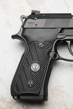 Wilson Combat - Beretta 92/96 G10 Grips - Checkered WC Logo - Black
