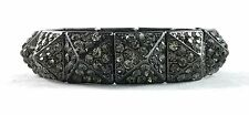 Lisa Freede Gumetal Pave  CRYSTAL PYRAMID STRETCH BRACELET