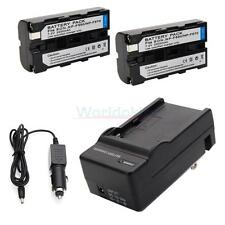 2x Battery + Charger for Sony NP-F550 NP-F930 NP-F950 Digital8 DCR-TRV320 set