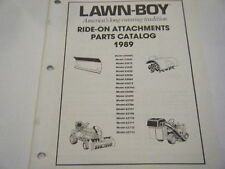 NEW LAWN BOY RIDE-ON ATTACHMENTS PARTS CATALOG WITH IPL'S    1989       41 PAGES