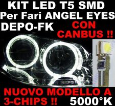 20 Lampadine LED T5 5000K ANGEL EYES CANBUS 3 chips FK DEPO cruscotto strumenti