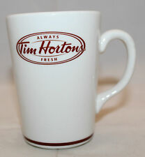 Tim Hortons Steelite White Brown Logo Coffee Tea Mug Cup 12oz Made in England