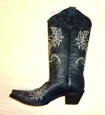 Corral L5005 Size 7M Womens Western Phoenix Cowgirl Leather Boots NAVY BLUE NEW!