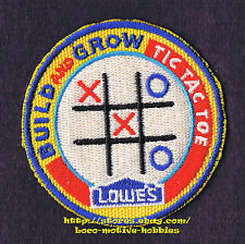PATCH Badge  TIC TAC TOE  Game Board  LOWES Build Grow Project Series Kid's