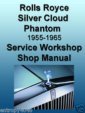 Rolls Royce Silver Cloud I II III Phantom V Bentley S S2 S3 SERVICE Shop MANUALS