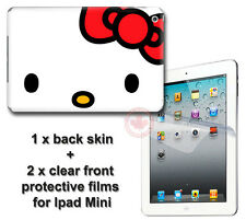 Hello Kitty Classic Back SKIN STICKER DECAL COVER with 2 films for iPad Mini