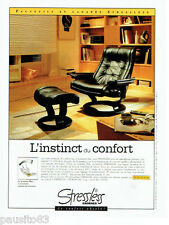 PUBLICITE ADVERTISING 026  1997  STRESLESS  ERONES  fauteuil & canapé