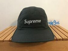 2002 Vintage Supreme New York NY Box Logo Green Camp Hat Retractable One Size